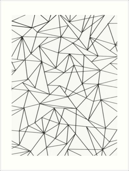 Line Art Geometric : Quot geometric lines art prints by amanda miller redbubble
