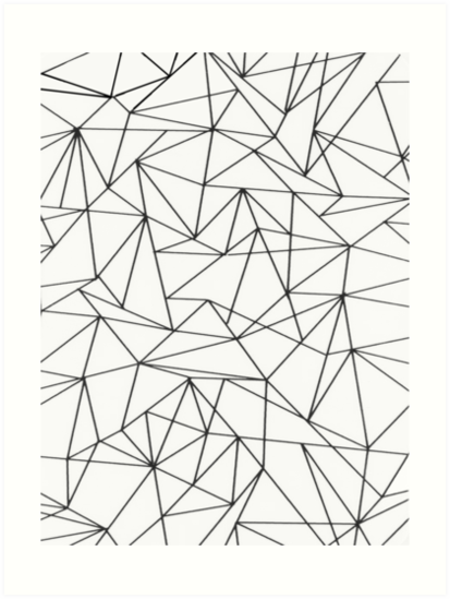 Geometric Line Drawing Artists : Quot geometric lines art prints by amanda m redbubble