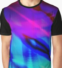Retro Dream - A Groovy, Digital Tie Dye in Purples and Blues Graphic T-Shirt