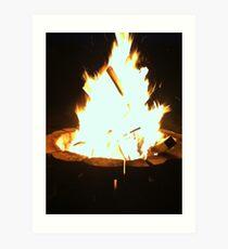 The Firepit Art Print