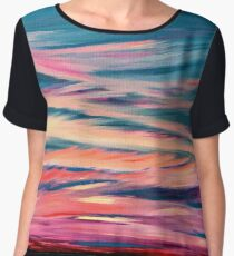 Twilight Sky -  Large Abstract Sky Oil Painting  Women's Chiffon Top