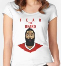 Fear the Beard Tailliertes Rundhals-Shirt