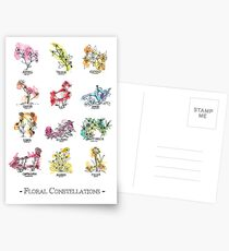 Floral Constellations - Chromatic Postcards