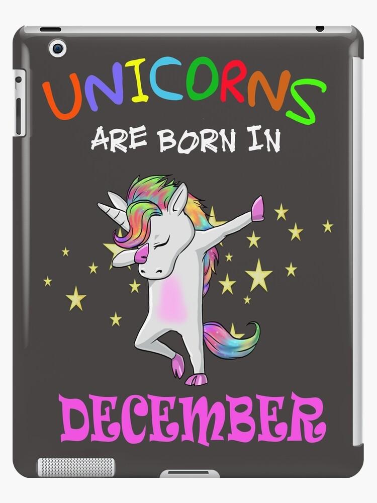 946a8f83f Unicorns are born in December birthday girls unicorn dab dance t shirt