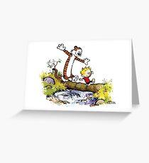 Calvin and Hobbes 8 Greeting Card