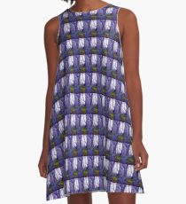 Bluebells in the Forest Rain A-Line Dress