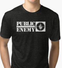 Public enemy logo T-shirt Tri-blend T-Shirt