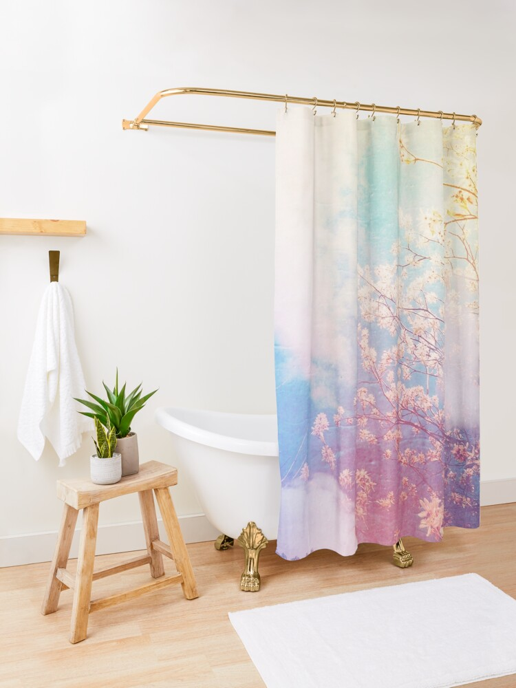 Alternate view of springtime dreaming Shower Curtain