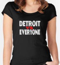 Detroit VS Everyone T-Shirt Funny Michigan Gift Shirt Women's Fitted Scoop T-Shirt