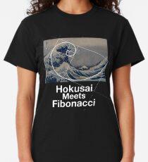 Hokusai Meets Fibonacci Classic T-Shirt