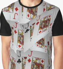Poker, Jacks, Playing Cards In A Layered Pattern Graphic T-Shirt