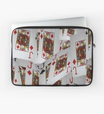Poker, Jacks, Playing Cards In A Layered Pattern Laptop Sleeve