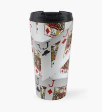 Poker, Jacks, Playing Cards In A Layered Pattern Travel Mug