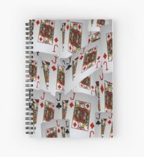 Poker, Jacks, Playing Cards In A Layered Pattern Spiral Notebook