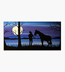 A woman and her horse companion Photographic Print