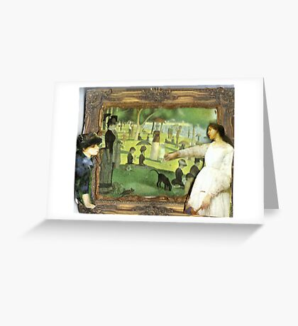 Paintings Admiring A Painting Greeting Card