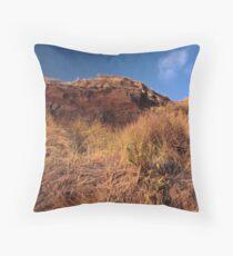 Mandalay Beach Cliffs 1 Throw Pillow