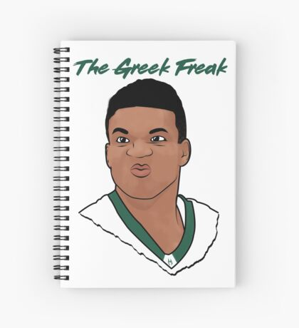 The Greek Freak Spiral Notebook