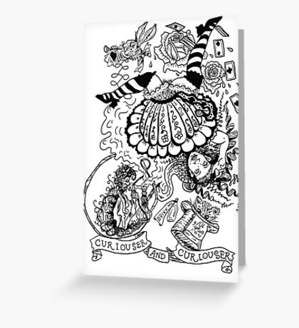Curiouser and Curiouser Greeting Card