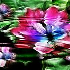 Rippled Water Lily and Bubbles by MaeBelle