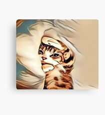 Mondays Kitten Canvas Print