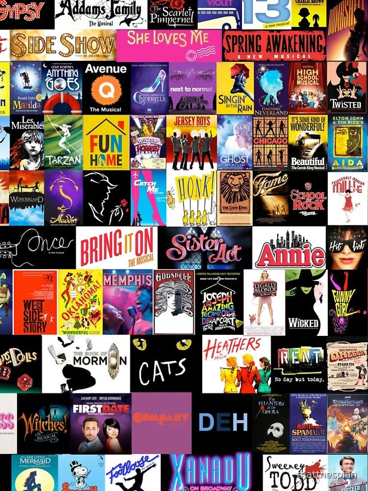 MUSICALS! (Duvet, Clothing, Book, Pillow, Sticker, Case, Mug etc)  by thatthespian