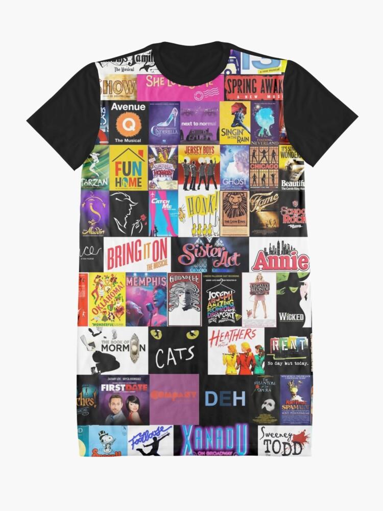 Alternate view of MUSICALS! (Duvet, Clothing, Book, Pillow, Sticker, Case, Mug etc)  Graphic T-Shirt Dress