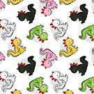 Chubby Axolotls (Toss Pattern) by Kristina S