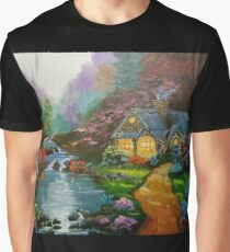 Cottage by the Lake Graphic T-Shirt