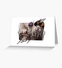 Sir Cobweb and Humblebee Greeting Card