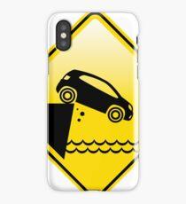 Caution Cliff  iPhone Case/Skin