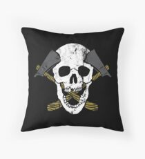 Skull Axe Throw Pillow