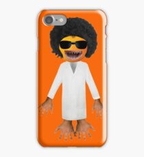 Orange afro man iPhone Case/Skin