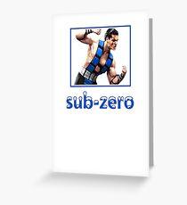 Sub Zero Greeting Card