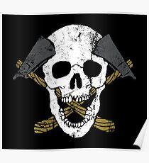 Skull Axe Poster