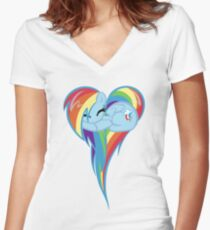 Heart Of Rainbow Dash Women's Fitted V-Neck T-Shirt
