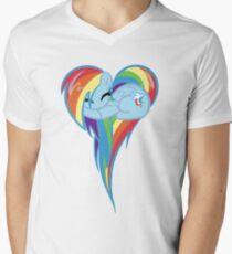 Heart Of Rainbow Dash Men's V-Neck T-Shirt