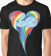 Heart Of Rainbow Dash Graphic T-Shirt