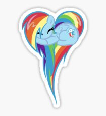 Heart Of Rainbow Dash Sticker