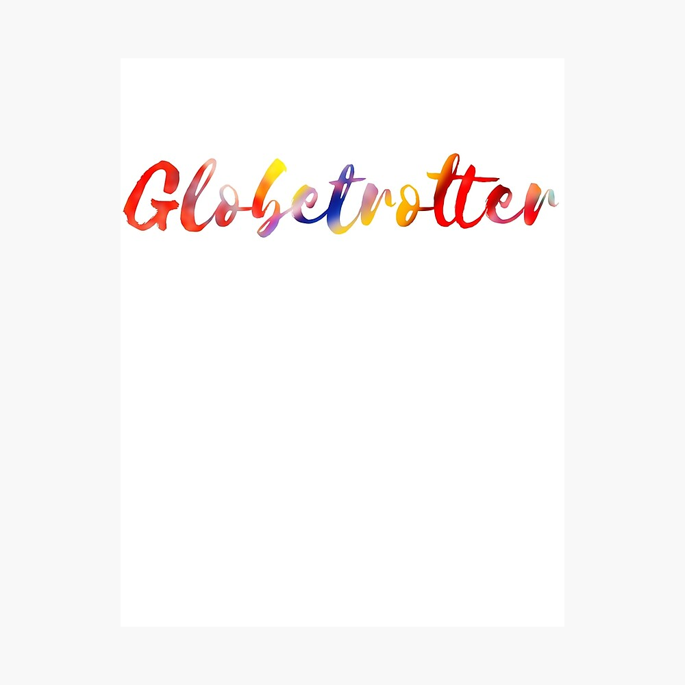 Globetrotter in Rainbow Photographic Print