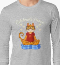 Cat Lover Funny T-shirt- Celebrate Peace Tshirt For, Children women, Men T-Shirt