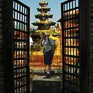 The thinking man at the gates by guy natav
