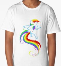 Flowing Rainbow Long T-Shirt
