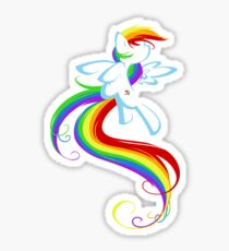 Flowing Rainbow Sticker
