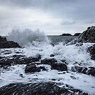 the waves at Dyrhólaey II by Rebecca Tun
