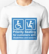 Priority Seating For People with Disabilities T-Shirt