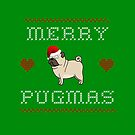 MERRY PUGMAS by ClothedCircuit