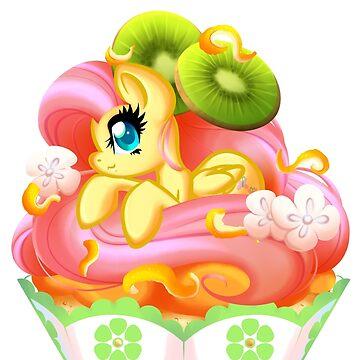 PonyCake Fluttershy by BambooDog