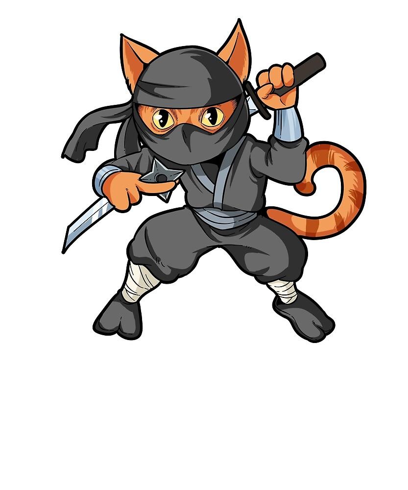 ninja anime cat kids tshirt funny animal tshirt by epefany redbubble