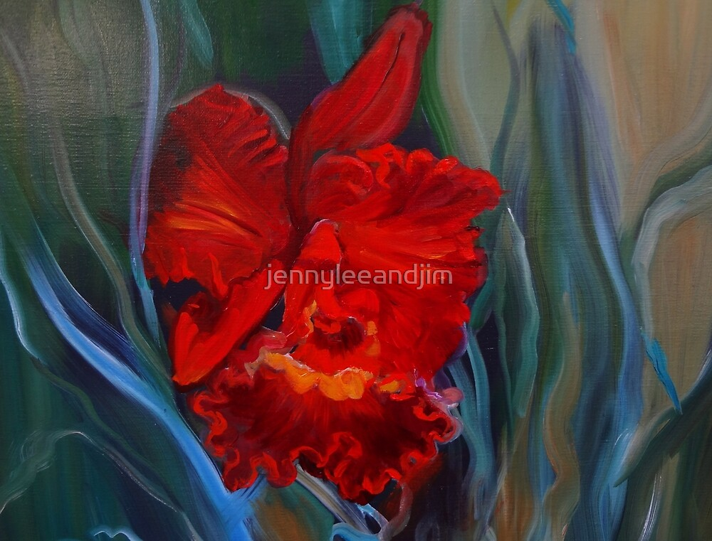 Red Orchid Jungle by jennyleeandjim